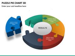 Puzzle pie chart 3d PPT slide 19