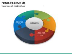Puzzle pie chart 3d PPT slide 20