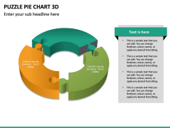 Puzzle pie chart 3d PPT slide 21