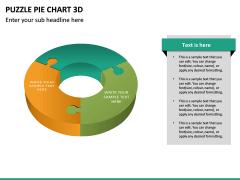 Puzzle pie chart 3d PPT slide 22