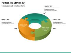 Puzzle pie chart 3d PPT slide 23