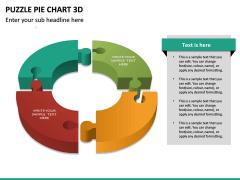 Puzzle pie chart 3d PPT slide 24