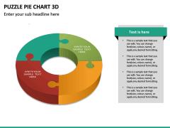 Puzzle pie chart 3d PPT slide 25