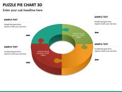 Puzzle pie chart 3d PPT slide 26