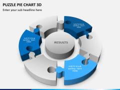 Puzzle pie chart 3d PPT slide 1