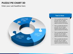 Puzzle pie chart 3d PPT slide 10