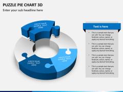 Puzzle pie chart 3d PPT slide 11