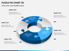 Puzzle pie chart 3d PPT slide 12