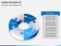 Puzzle pie chart 3d PPT slide 13