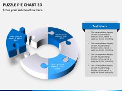 Puzzle pie chart 3d PPT slide 14