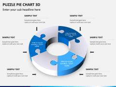 Puzzle pie chart 3d PPT slide 15
