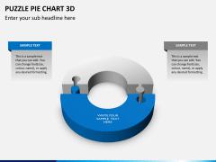 Puzzle pie chart 3d PPT slide 16