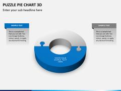 Puzzle pie chart 3d PPT slide 17