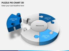Puzzle pie chart 3d PPT slide 2