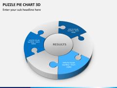Puzzle pie chart 3d PPT slide 3