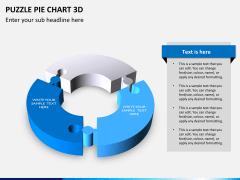 Puzzle pie chart 3d PPT slide 4