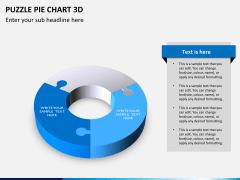 Puzzle pie chart 3d PPT slide 5