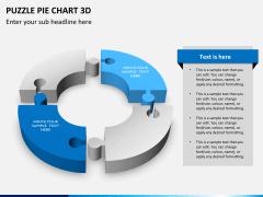 Puzzle pie chart 3d PPT slide 7