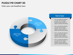 Puzzle pie chart 3d PPT slide 8