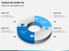 Puzzle pie chart 3d PPT slide 9