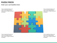 Puzzle pieces PPT slide 15