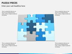 Puzzle pieces PPT slide 1