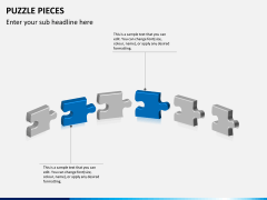 Puzzle pieces PPT slide 9