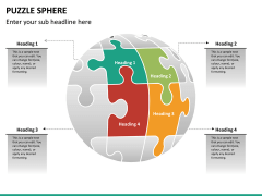Puzzle sphere PPT slide 9