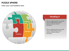 Puzzle sphere PPT slide 13