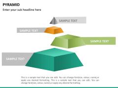Pyramid shape PPT slide 13