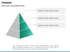 Pyramid shape PPT slide 14