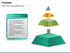 Pyramid shape PPT slide 15