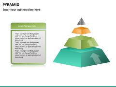 Pyramid shape PPT slide 17