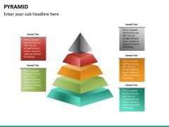 Pyramid shape PPT slide 19