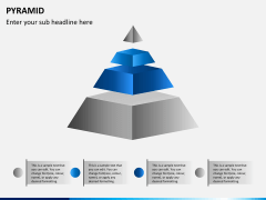 Pyramid shape PPT slide 1