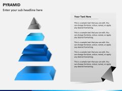 Pyramid shape PPT slide 10