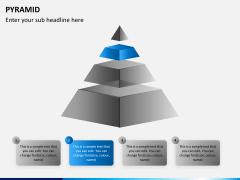 Pyramid shape PPT slide 2