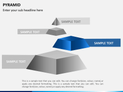 Pyramid shape PPT slide 3