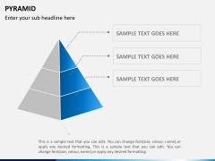Pyramid shape PPT slide 4