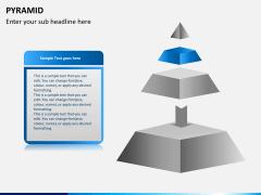 Pyramid shape PPT slide 5