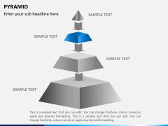 Pyramid shape PPT slide 6