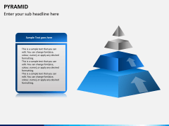 Pyramid shape PPT slide 7