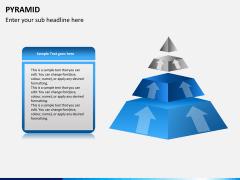 Pyramid shape PPT slide 8
