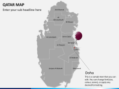 Qatar map PPT slide 18