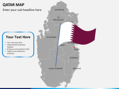 Qatar map PPT slide 19