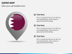 Qatar map PPT slide 21