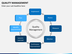 Quality management PPT slide 1