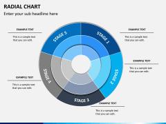 Radial charts PPT slide 10