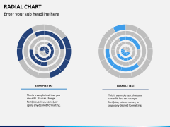 Radial charts PPT slide 6