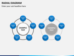 Radial diagram PPT slide 1